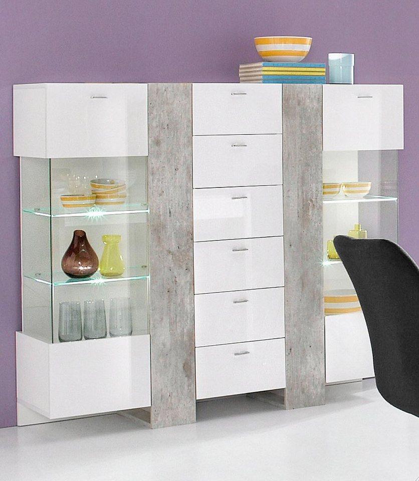 tecnos highboard breite 137 cm online kaufen otto. Black Bedroom Furniture Sets. Home Design Ideas