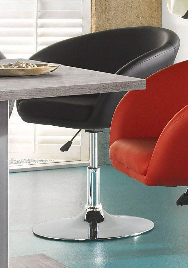 Sessel in Lederoptik schwarz