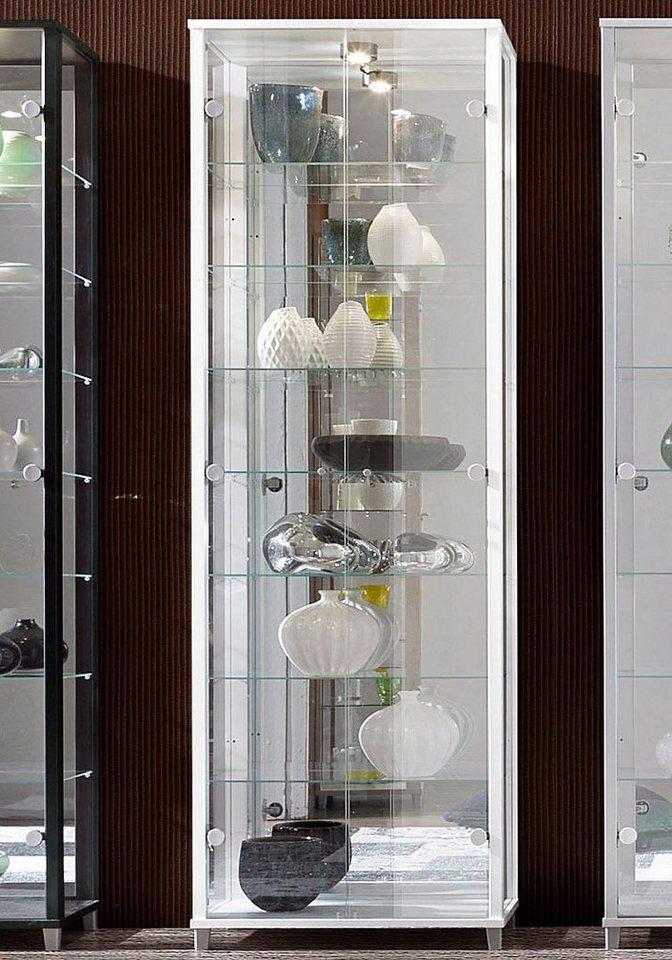 vitrine 2 t rig mit spiegelr ckwand 7 glasb den otto. Black Bedroom Furniture Sets. Home Design Ideas