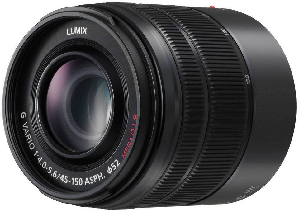 Panasonic H-FS45150E-K Telezoom Objektiv in schwarz