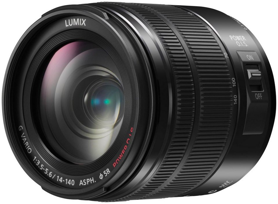 Panasonic H-FS14140E-K Superzoom Objektiv in schwarz