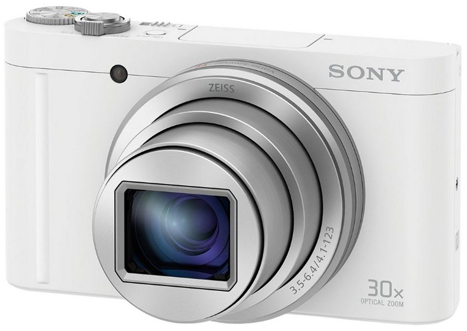 Sony Cyber-Shot DSC-WX500 Super Zoom Kamera, 18,2 Megapixel, 30x opt. Zoom, 7,5 cm (3 Zoll) Display in weiß