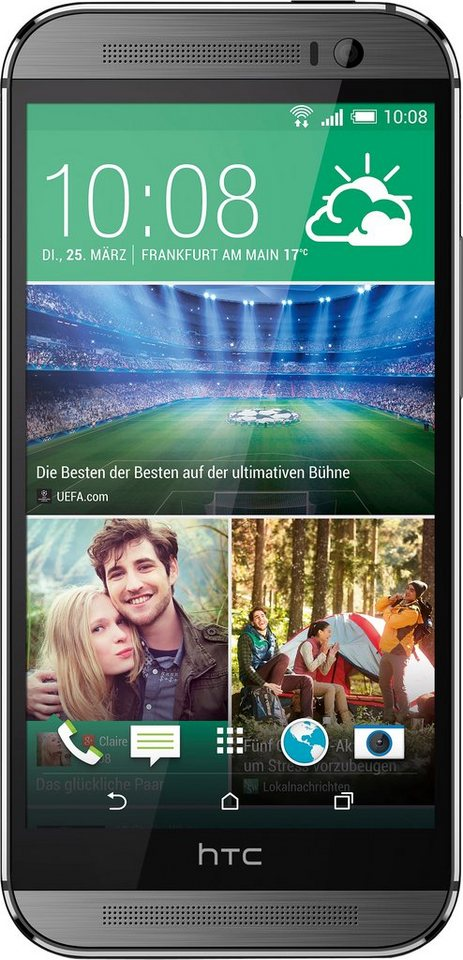 HTC One M8s Smartphone, 12,7 cm (5 Zoll) Display, LTE (4G), Android 5.0, 13,0 Megapixel, NFC in grau
