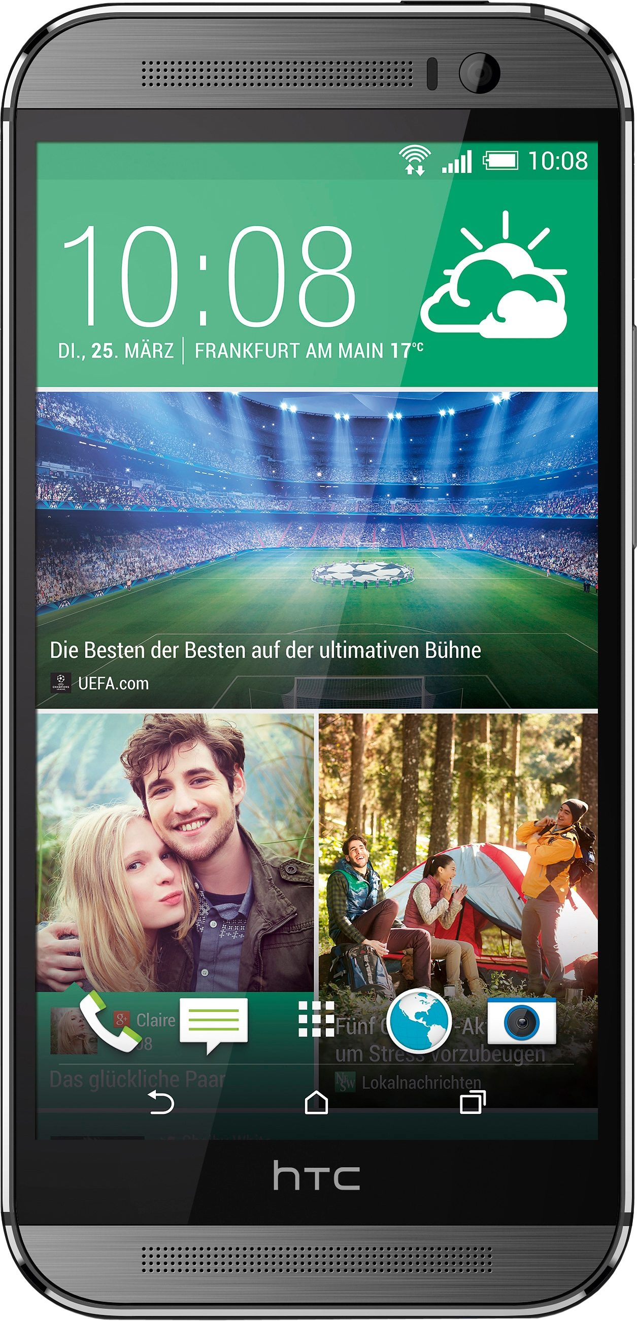HTC One M8s Smartphone, 12,7 cm (5 Zoll) Display, LTE (4G), Android 5.0, 13,0 Megapixel, NFC