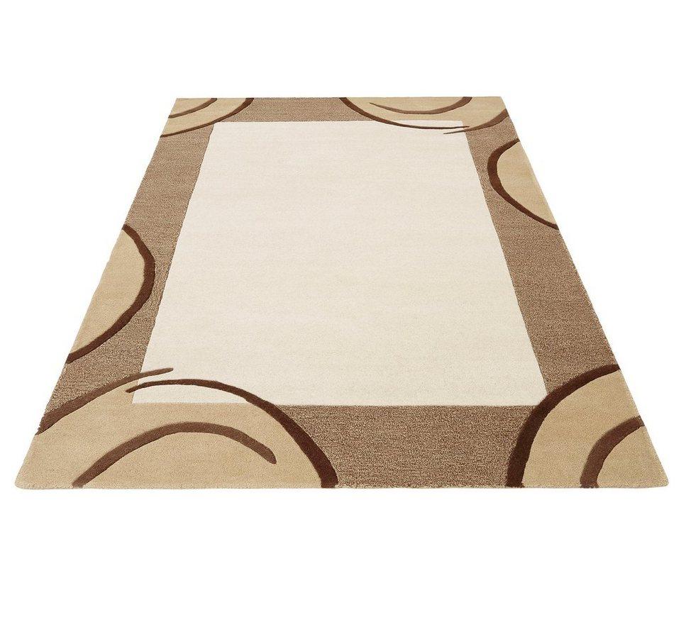 Teppich, Theko exklusiv, »Bellary«, handgearbeiteter Konturenschnitt, handgetuftet, reine Schurwolle in natur