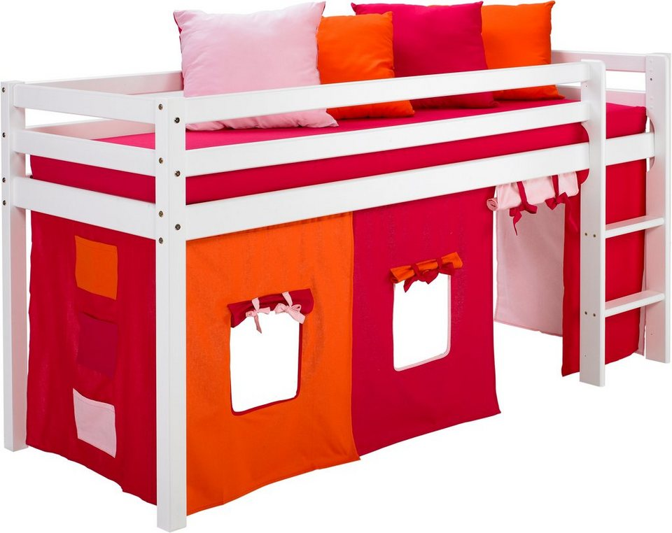 hoppekids halbhohes bett set 4 tlg kaufen otto. Black Bedroom Furniture Sets. Home Design Ideas