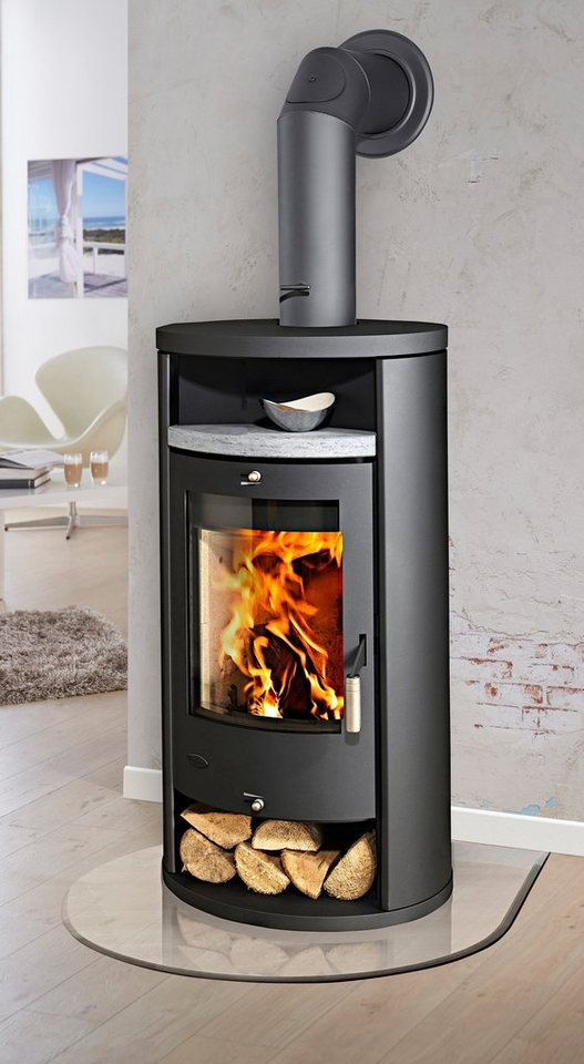 Kaminofen »Alicante«, Stahl, 8 kW, Fireplace in grau