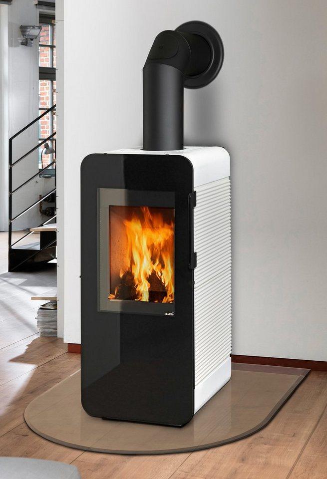 Kaminofen »Neo«, Kachel weiß, 6 kW, Dauerbrand, Vollglastür in weiß