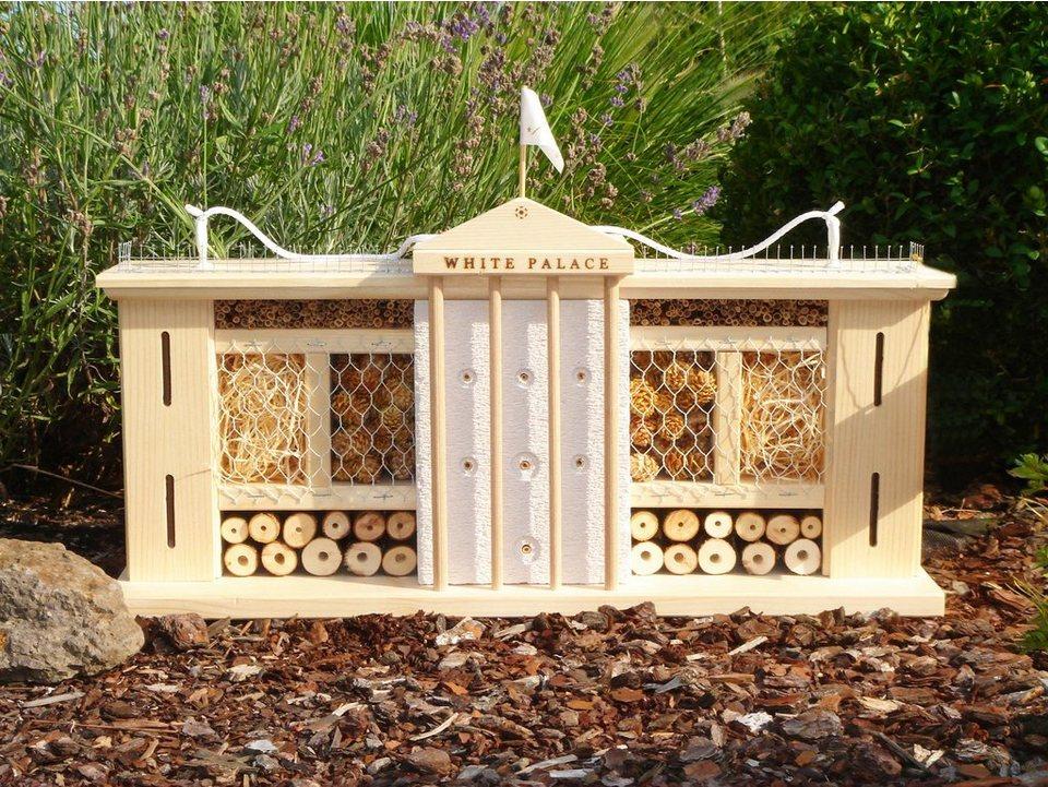 Insektenhotel »Weißer Palast« in natur