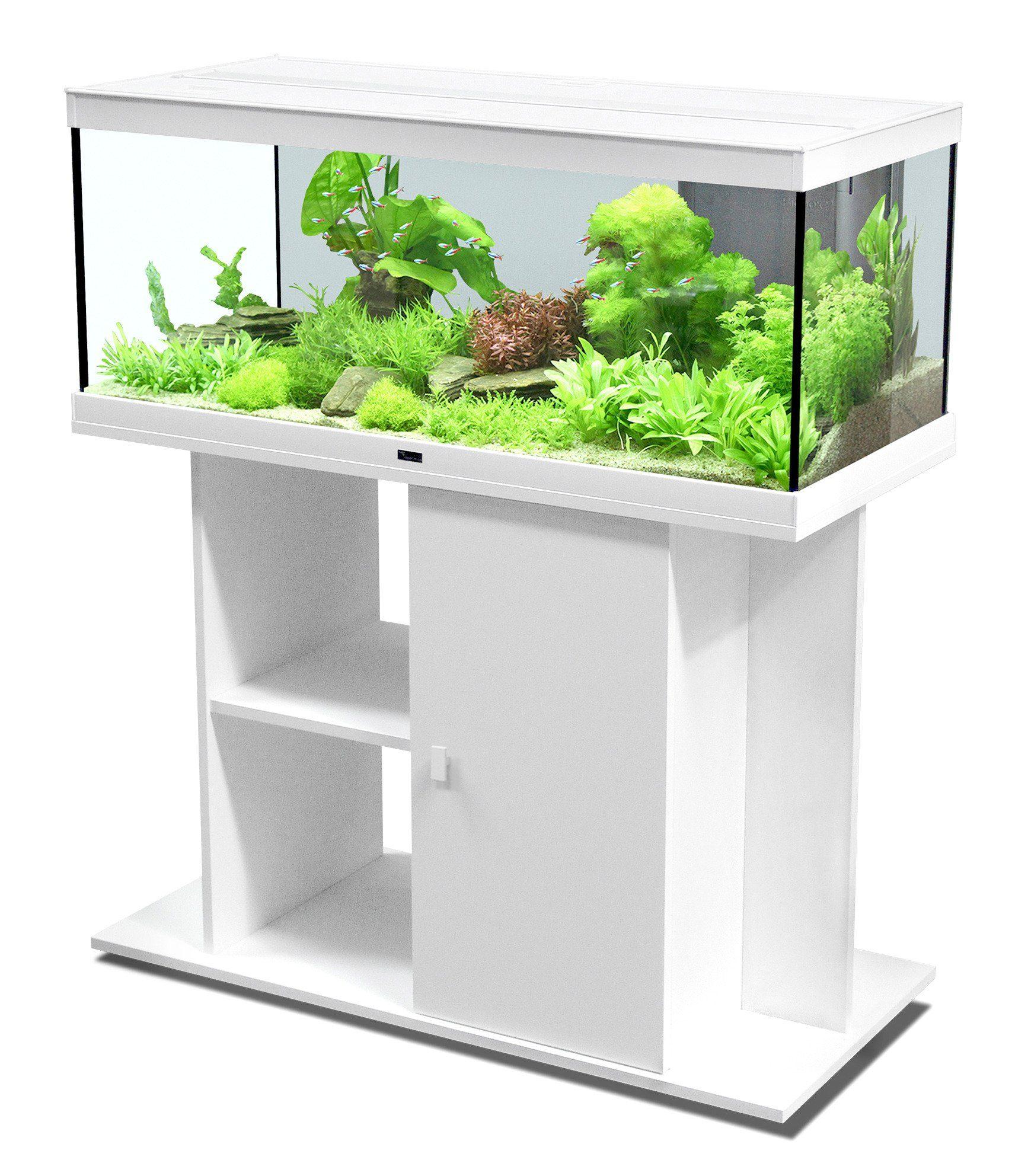 Aquarien-Set »Style 100 LED«, weiß (B/T/H: 100/40/40 cm)