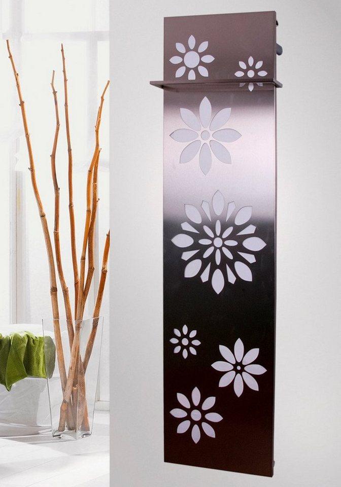 Design-Badheizkörper »Flower« in edelstahlfarben