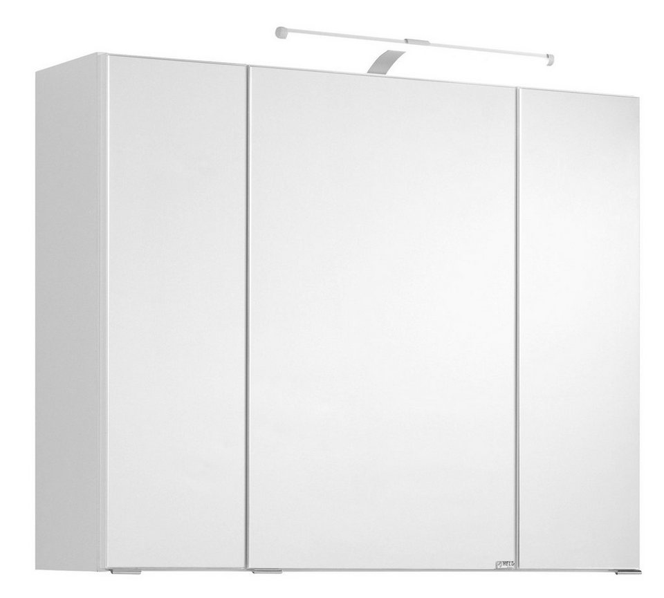 spiegelschrank cardiff breite 80 cm mit led beleuchtung. Black Bedroom Furniture Sets. Home Design Ideas