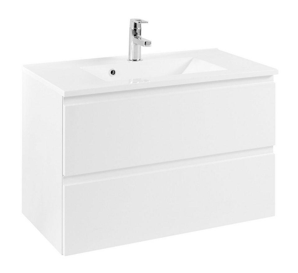 Waschplatz-Set »Cardiff«, Breite 80 cm, (2-tlg.) in weiß