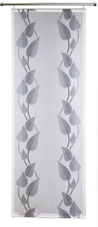 Schiebegardine, VHG, »Roman«, mit Klettband (1 Stück mit Zubehör) in schwarz