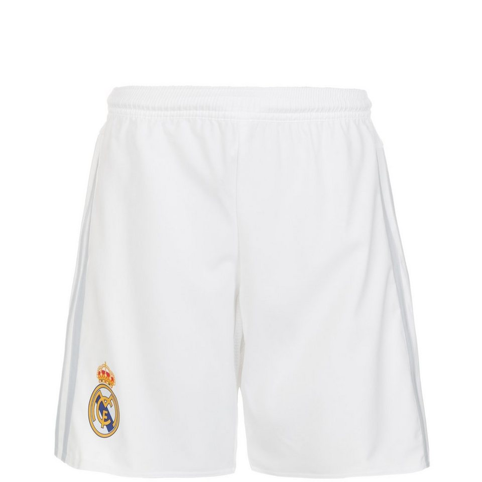 adidas Performance Real Madrid Short Home 2015/2016 Kinder in weiß / hellgrau