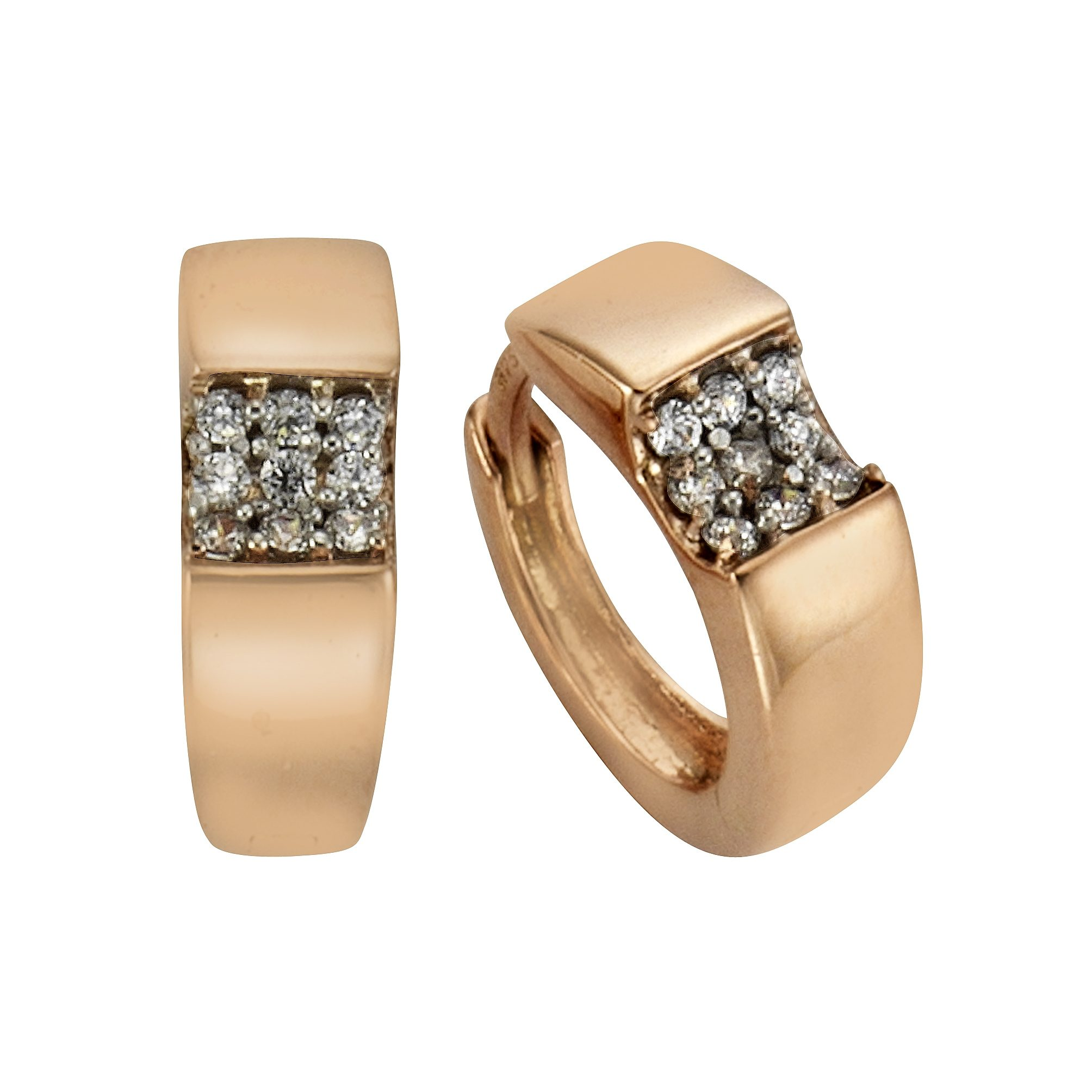 Fascination by Ellen K. Creolen »375/- Gold bicolor Zirkonia«