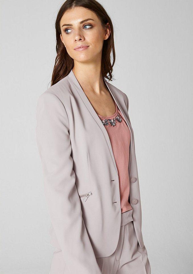 s.Oliver PREMIUM Blazer mit Zippertaschen in highlight grey