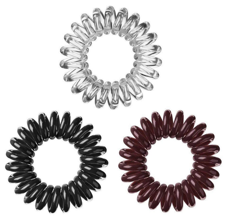 »Invisibobble«, Spiral-Haargummi (9-tlg. Set) in Black/Brown/Crystal