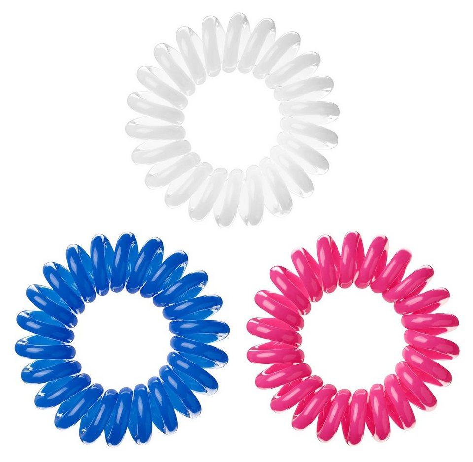 »Invisibobble«, Spiral-Haargummi (9-tlg. Set) in Blue/Pink/White