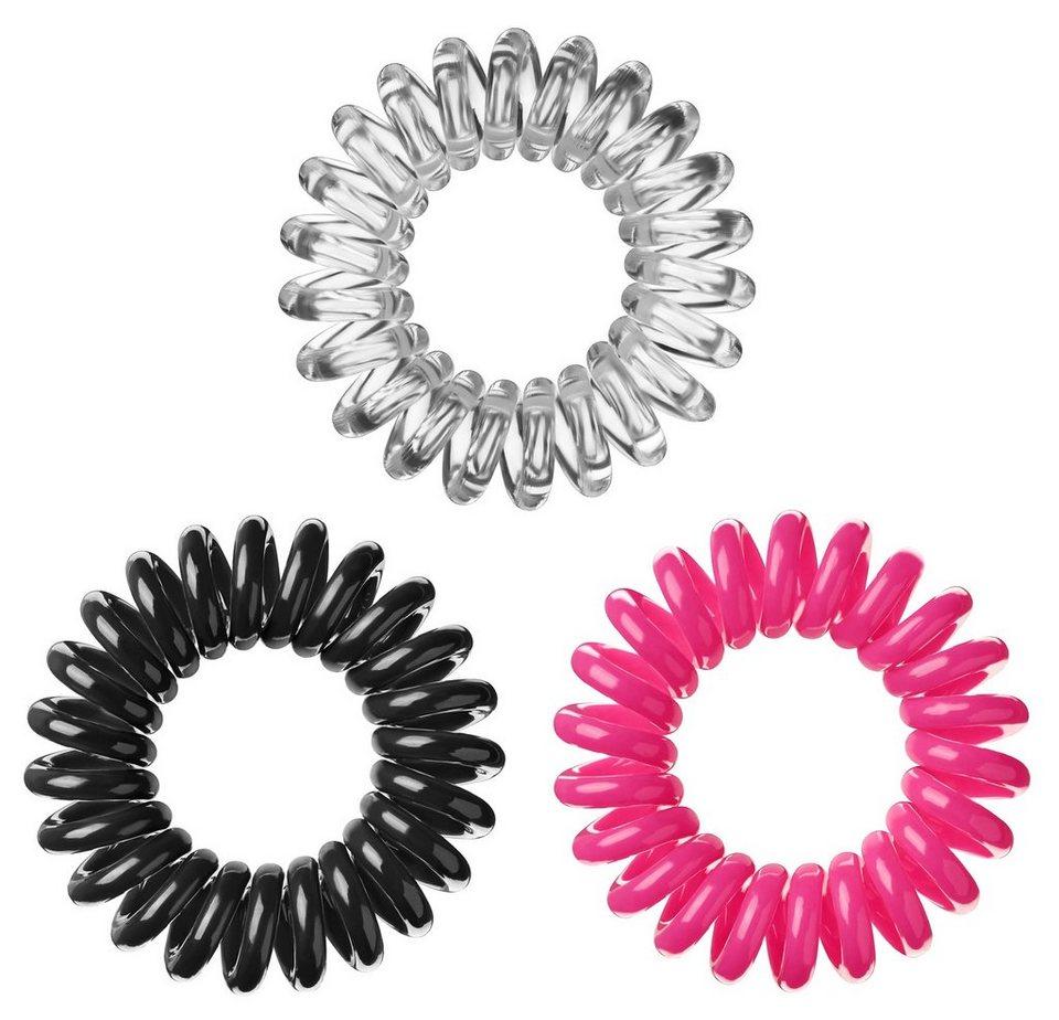 Invisibobble, Spiral-Haargummi (9-tlg. Set) in Black/Crystal/Pink