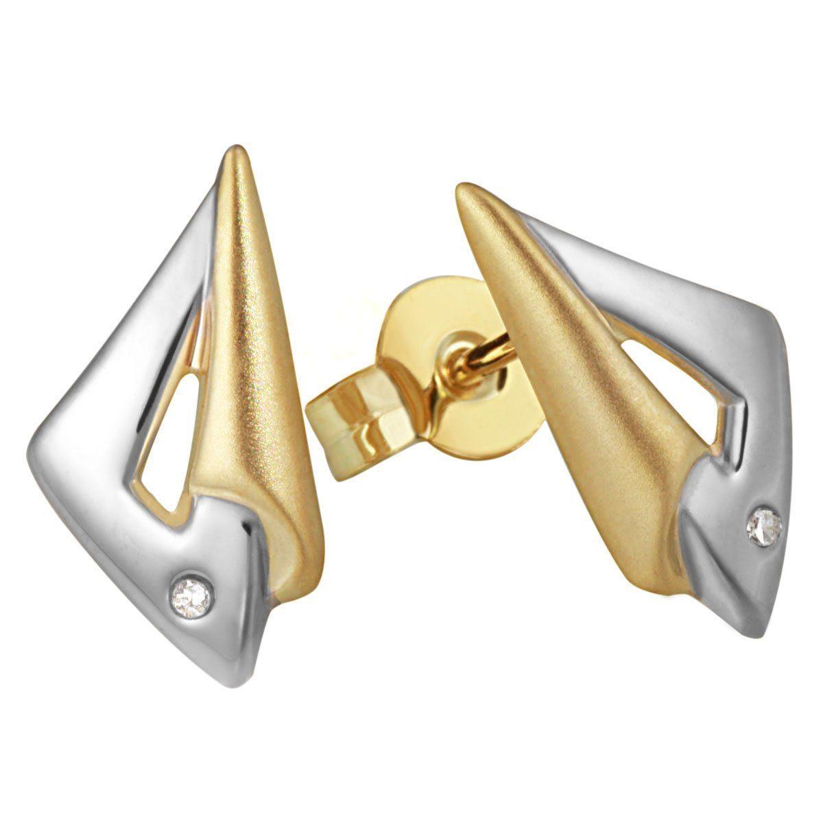goldmaid Paar Ohrstecker Gold 585 Bicolor Diamanten