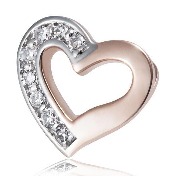 goldmaid Anhänger Herz 375 Rotgold 8 Diamanten SI/H