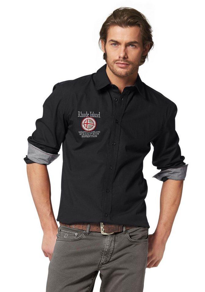 Rhode Island Hemd in schwarz