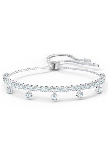 Swarovski Armband »Subtle Drops, weiss, rhodiniert, 5556913«, mit Swarovski® Kristallen