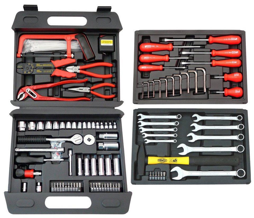 Universal-Werkzeugkoffer »253-70« (163-tlg.) in schwarz