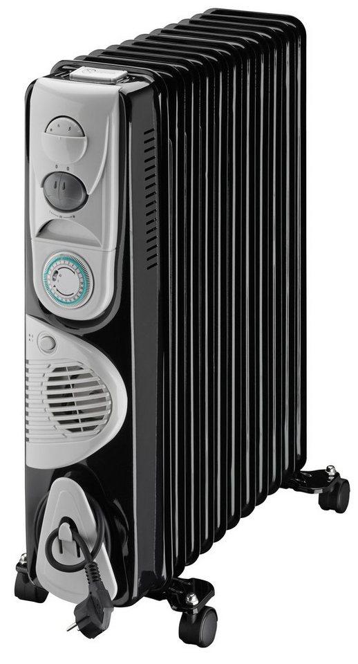 Rowi Ölradiator »HOR 2900/11/4 GZ Basic« 2900 Watt, Gebläsefunktion in schwarz