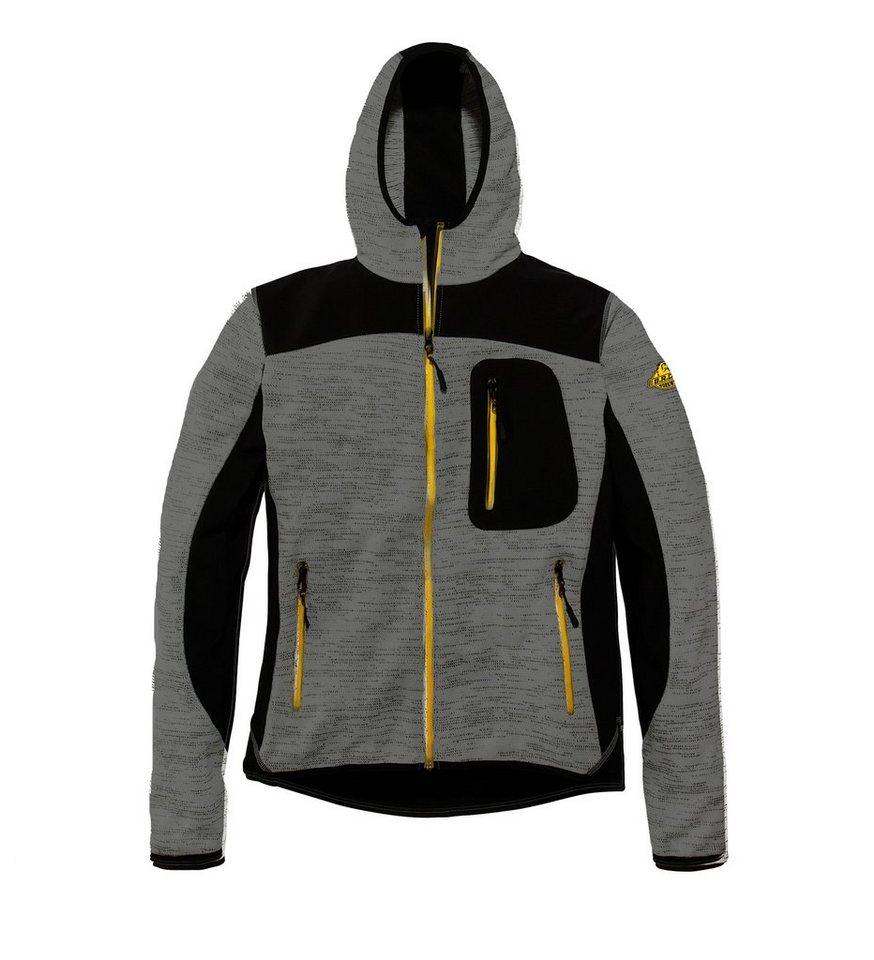 B.R.D.S. Workwear Strick-Softshelljacke »Workwear« in dunkelgrau