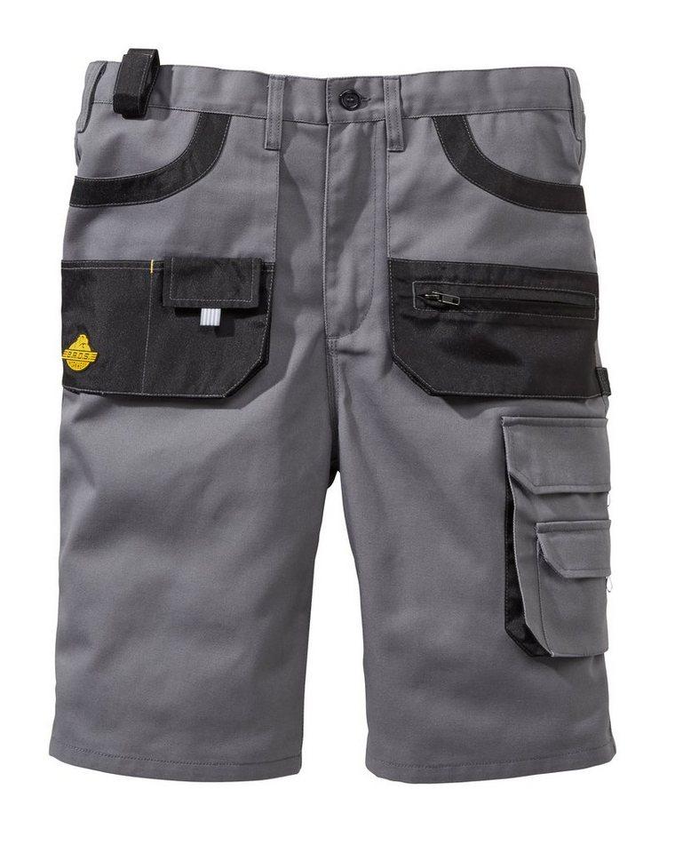 Shorts »Workwear« in grau/schwarz