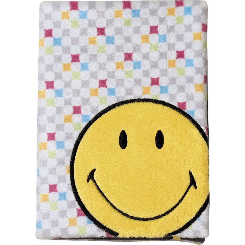 NICI 38181 Smiley Blankobuch A5 mit abnhembaren Plüscheinband