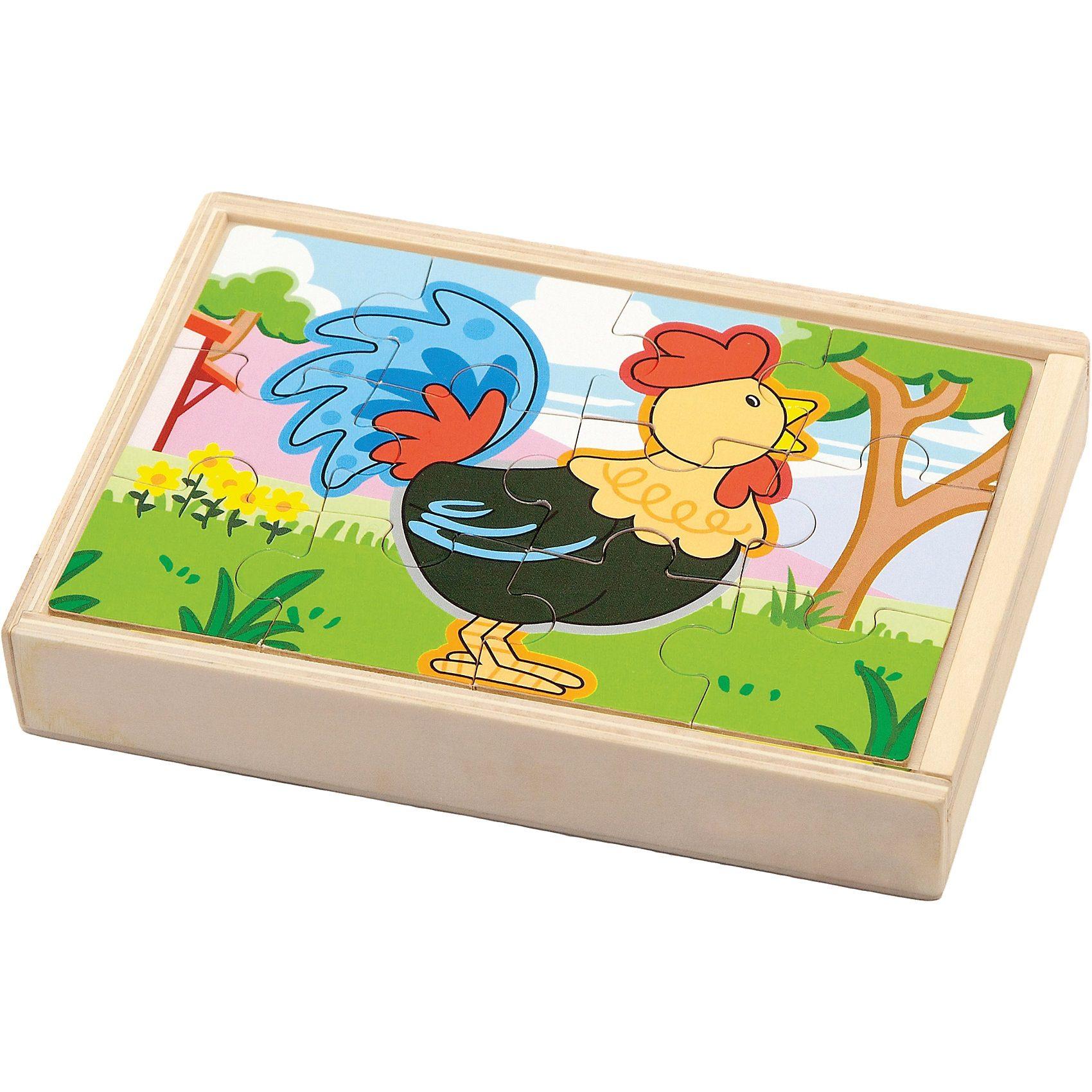 Eitech NCT 0531 Holzpuzzle in Box Bauernhof
