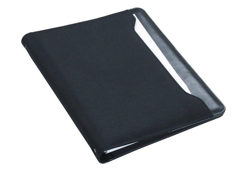 Alassio® Ringbuchmappe A4, »Como I« in schwarz