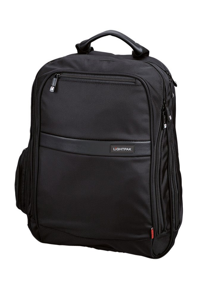 LIGHTPAK® Laptoprucksack, »Echo 1« in schwarz