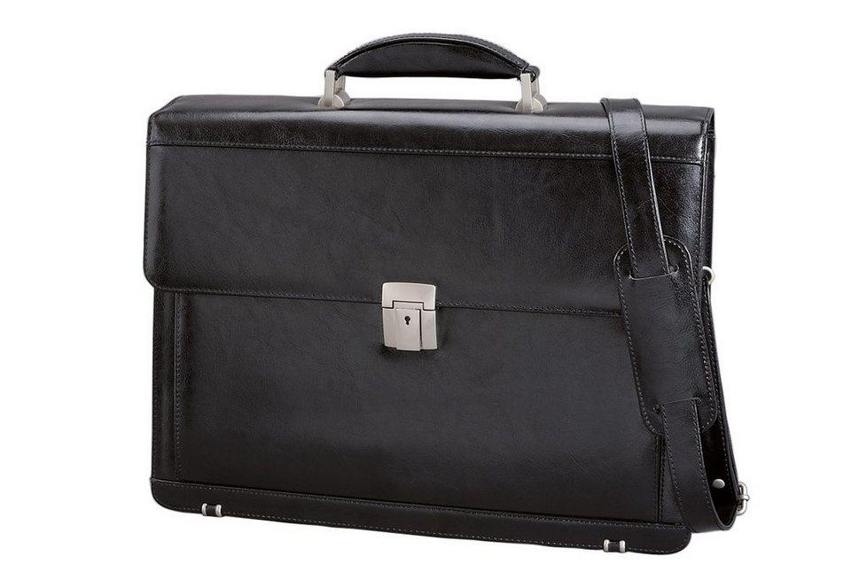 Alassio® Aktentasche mit Laptopfach, »Foggia« in schwarz