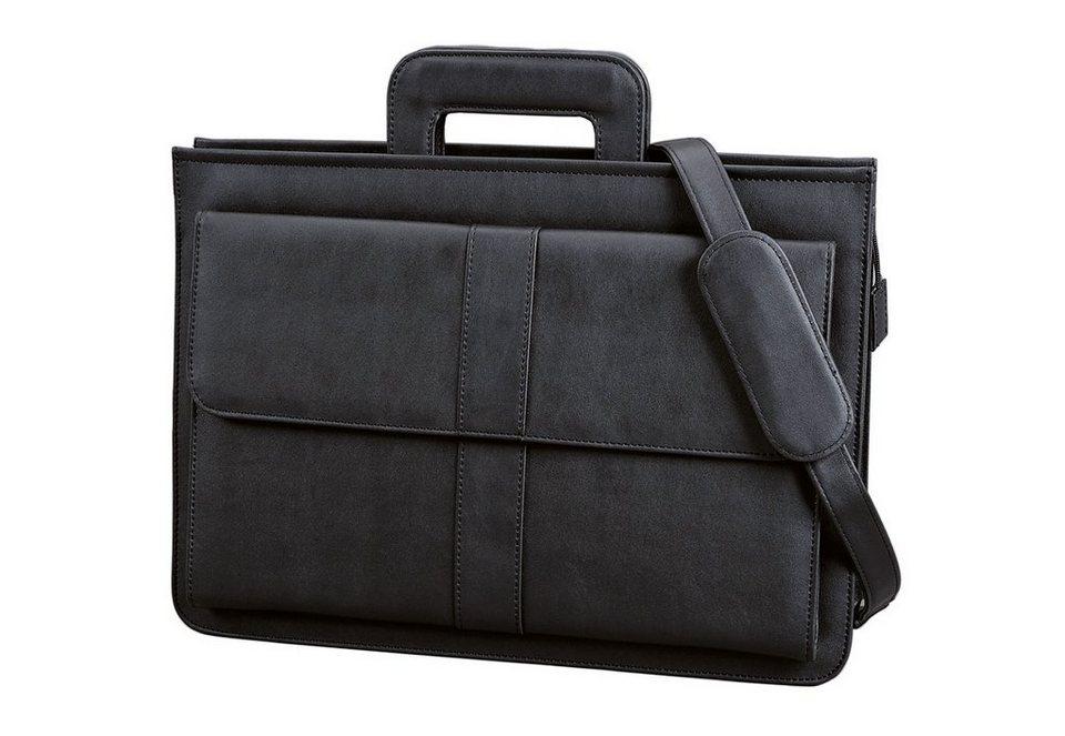 Alassio® Dokumententasche mit Schultergurt, »Aversa« in schwarz