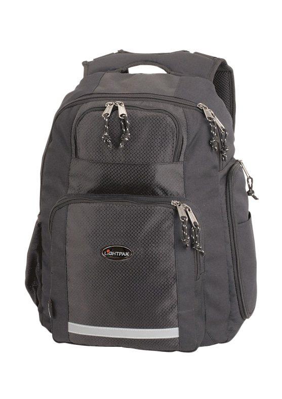 LIGHTPAK® Rucksack, »Safepak« in schwarz