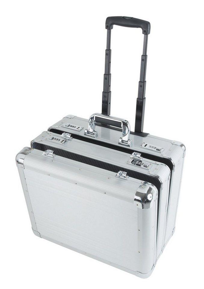Alumaxx® Multifunktionskoffer mit Teleskopgestänge, »Challenger« in silberfarben