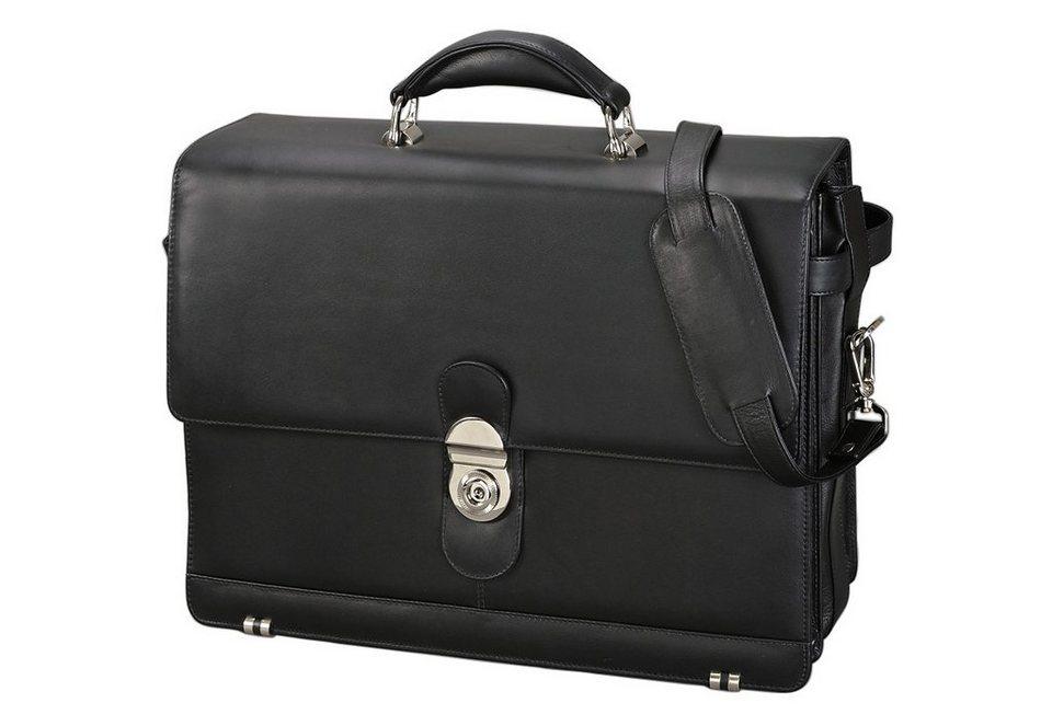 Alassio® Aktentasche aus Leder, »Monza« in schwarz