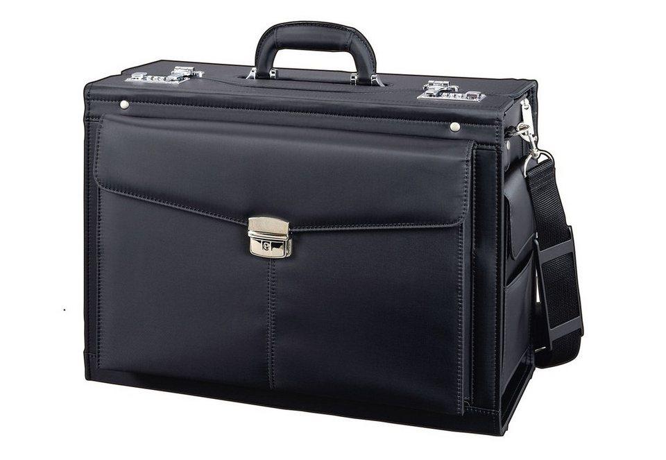 Alassio® Pilotenkoffer mit Schultergurt, »Rocca« in schwarz