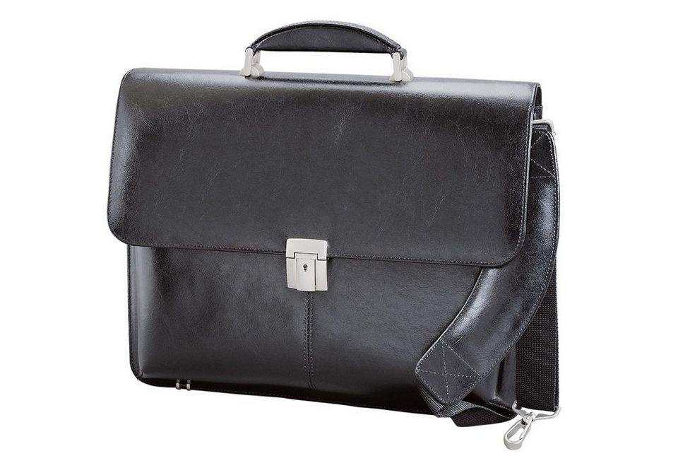 Alassio® Aktentasche mit Laptopfach, »Faenza« in schwarz