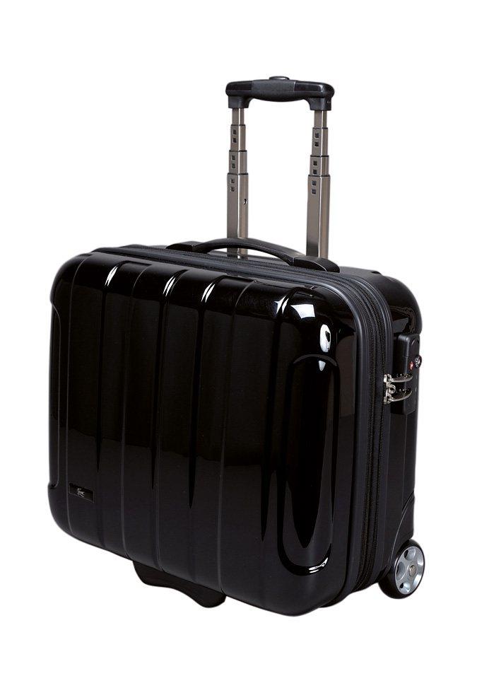 JSA® Businesstrolley mit 2 Rollen und Laptopfach in schwarz