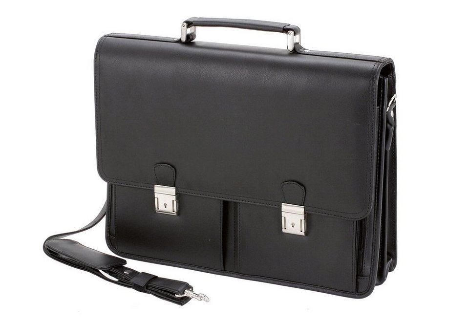 Alassio® Aktentasche aus Lederimitat, »Veneto« in schwarz