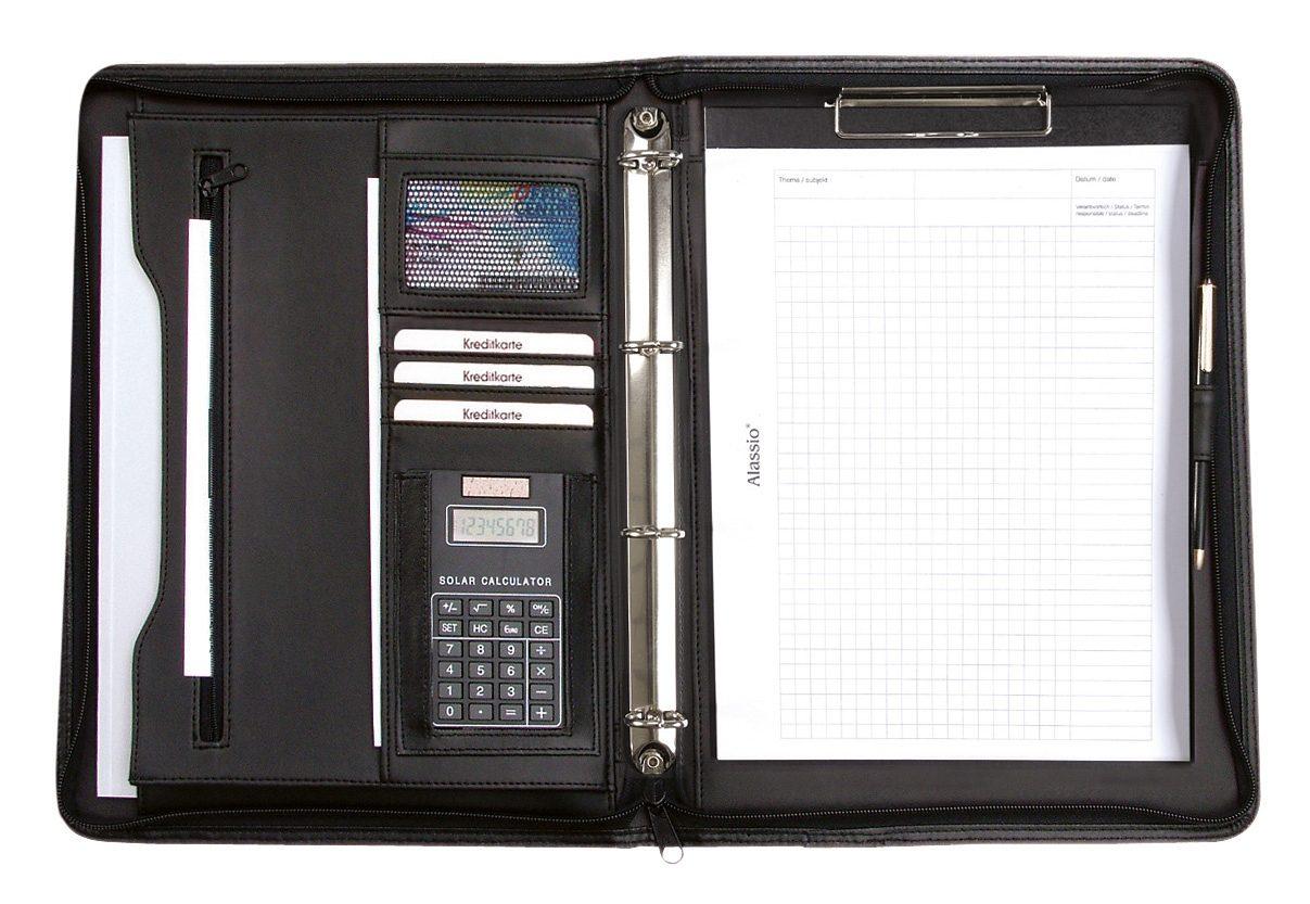 Alassio® Ringbuchmappe mit Taschenrechner A4, »Manerbo«