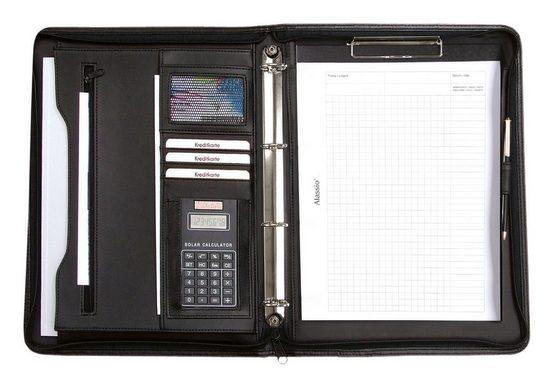 Alassio® Ringbuchmappe »DIN A4, Manerbo«, mit Taschenrechner
