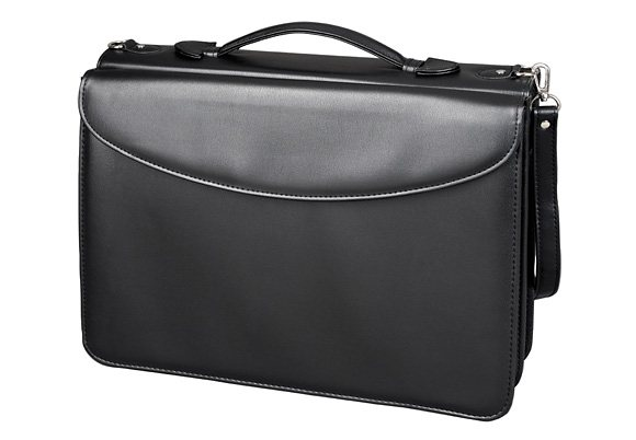 Alassio® Orgamappe mit Vortasche A4, »Barca« in schwarz