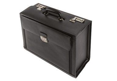 Alassio® Pilotenkoffer aus Leder mit Laptopfach, »Ferrara«