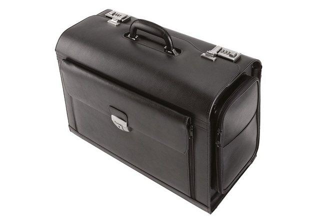 Alassio® Pilotenkoffer »Verona«, aus Leder mit Laptopfach | Taschen > Koffer & Trolleys > Pilotenkoffer | Alassio®